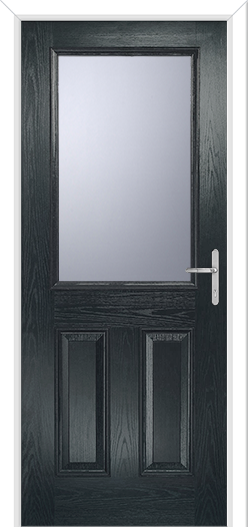 Anthracite Grey Front Door large glazing cassette