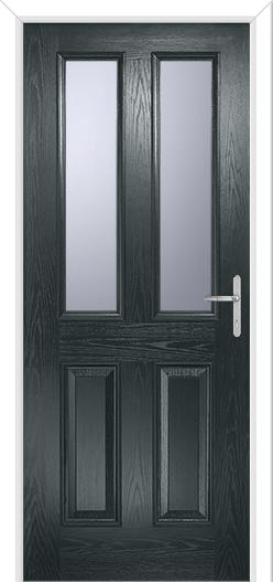 Anthracite grey front door