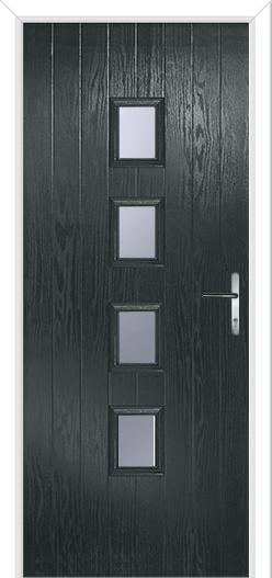 new grey exterior door