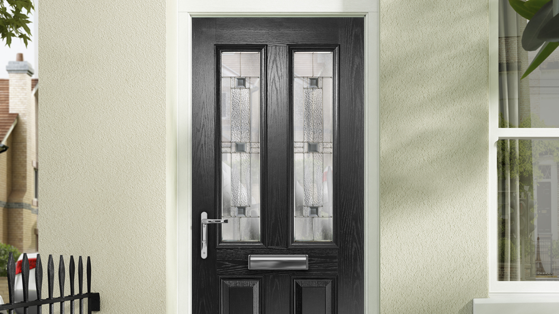 Anthracite Grey Composite Door on a house
