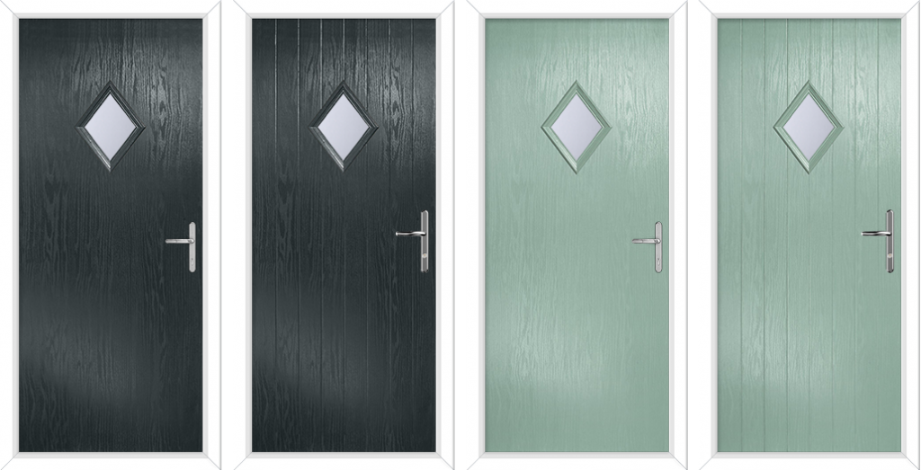 Hallmark Panels Composite Door Anthracite Grey Chartwell Green