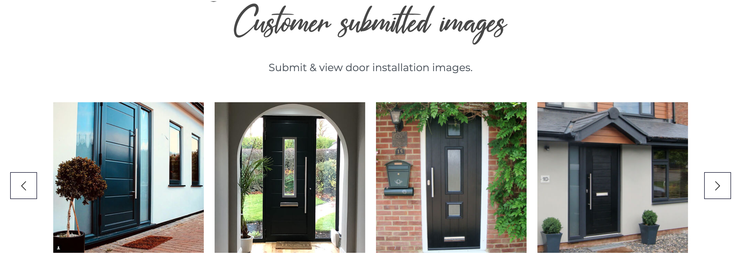 Customer doors