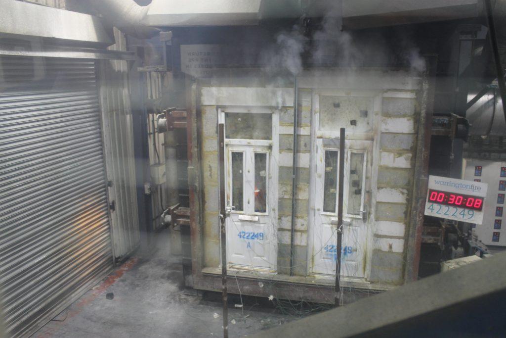 Fire Door Burn Test