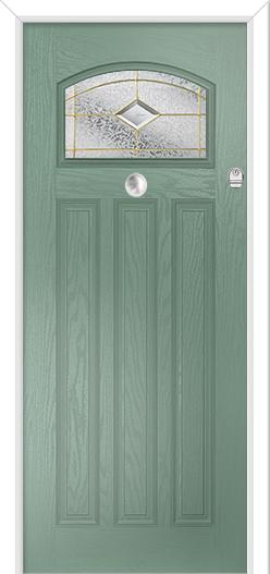 1930s / 1950s Composite Front Door