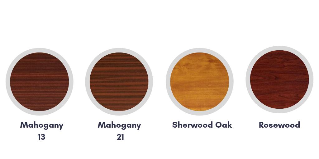 Mahogany, Rosewood & Sherwood Oak