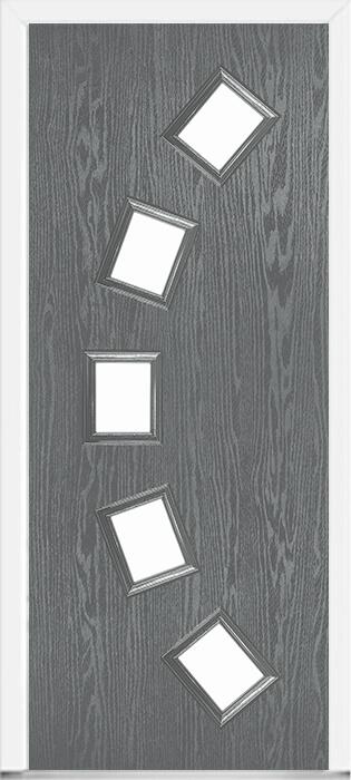 Grey Modern Composite Doors